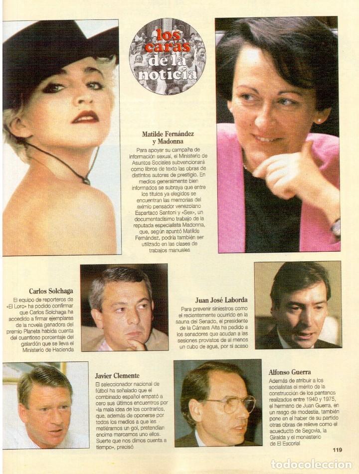 Coleccionismo de Revista Blanco y Negro: 1992. CRISTINA PIAGET. JUDIT MASCÓ. BRACK CROWES. ALASKA. THE CURE. TALGO. MADONNA. VER SUMARIO. - Foto 16 - 144325826