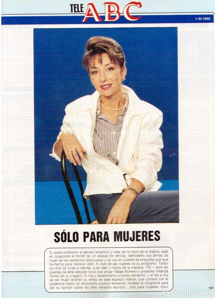Coleccionismo de Revista Blanco y Negro: 1992. CRISTINA PIAGET. JUDIT MASCÓ. BRACK CROWES. ALASKA. THE CURE. TALGO. MADONNA. VER SUMARIO. - Foto 17 - 144325826