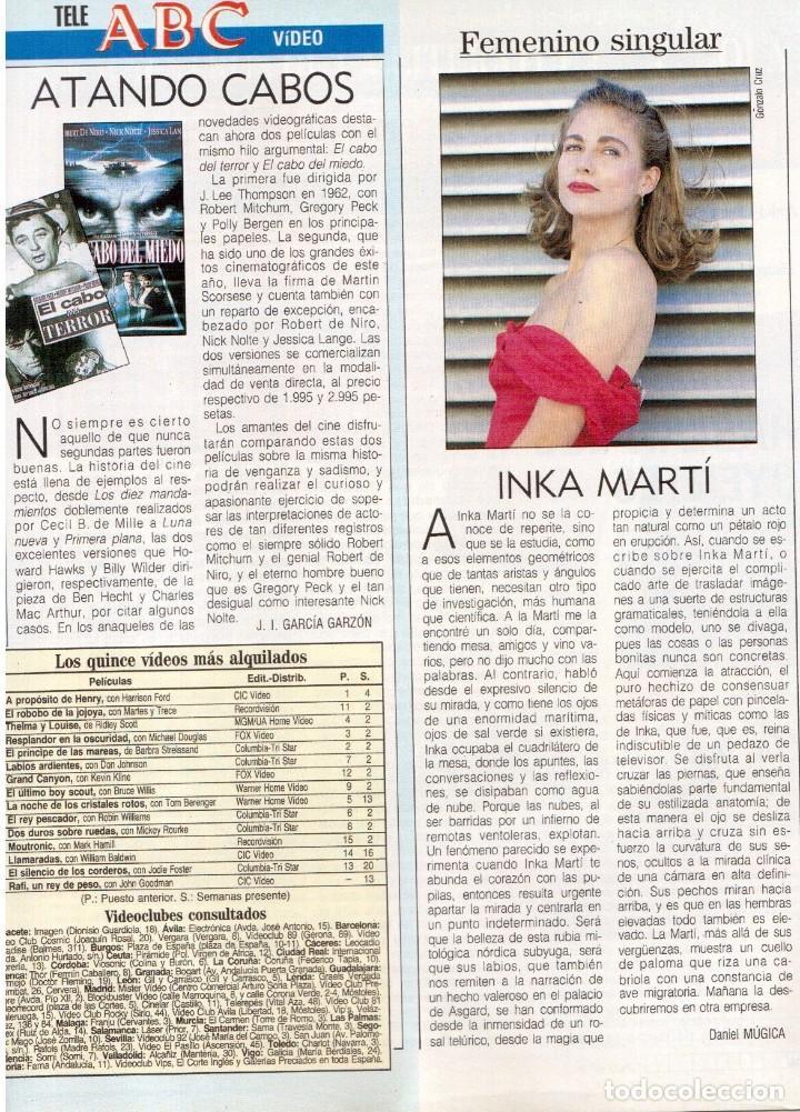 Coleccionismo de Revista Blanco y Negro: 1992. CRISTINA PIAGET. JUDIT MASCÓ. BRACK CROWES. ALASKA. THE CURE. TALGO. MADONNA. VER SUMARIO. - Foto 18 - 144325826