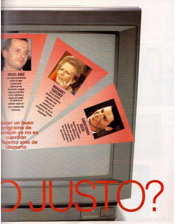 Coleccionismo de Revista Blanco y Negro: 1992. CLAUDIA SCHIFFER. MIGUEL BOSÉ. IMÁN. ISABEL PANTOJA. MARLENE DIETRICH. ANTONIO AMAYA. VER - Foto 3 - 144466310