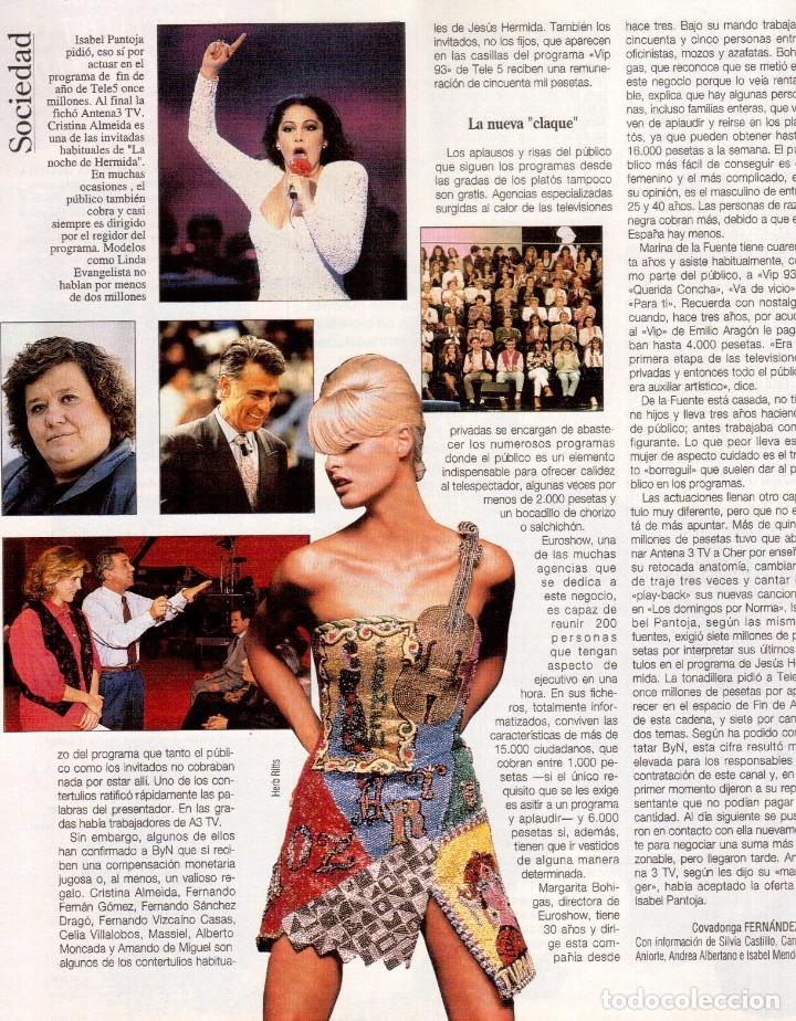 Coleccionismo de Revista Blanco y Negro: 1992. CLAUDIA SCHIFFER. MIGUEL BOSÉ. IMÁN. ISABEL PANTOJA. MARLENE DIETRICH. ANTONIO AMAYA. VER - Foto 5 - 144466310