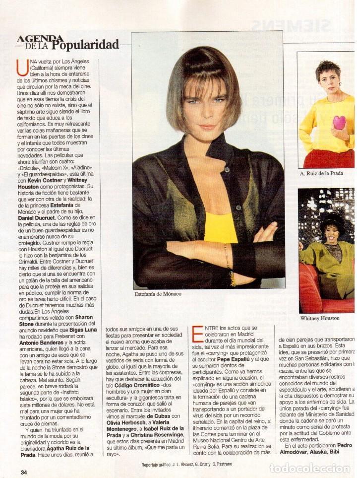 Coleccionismo de Revista Blanco y Negro: 1992. CLAUDIA SCHIFFER. MIGUEL BOSÉ. IMÁN. ISABEL PANTOJA. MARLENE DIETRICH. ANTONIO AMAYA. VER - Foto 6 - 144466310