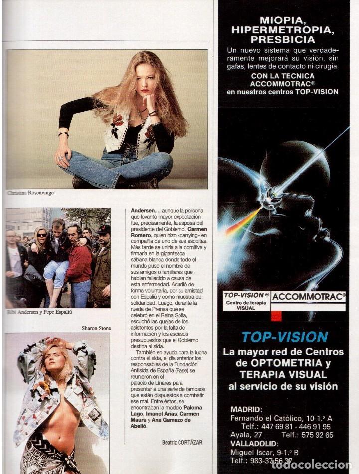 Coleccionismo de Revista Blanco y Negro: 1992. CLAUDIA SCHIFFER. MIGUEL BOSÉ. IMÁN. ISABEL PANTOJA. MARLENE DIETRICH. ANTONIO AMAYA. VER - Foto 7 - 144466310