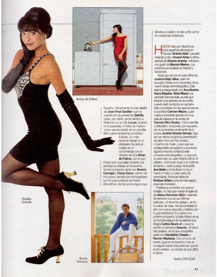 Coleccionismo de Revista Blanco y Negro: 1993. PALOMA SAN BASILIO. NATALIA ESTRADA. QUICA APARICIO. CARLOS SAINZ. ASSUMPTA SERNA. VER - Foto 4 - 144768722