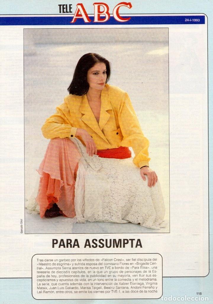 Coleccionismo de Revista Blanco y Negro: 1993. PALOMA SAN BASILIO. NATALIA ESTRADA. QUICA APARICIO. CARLOS SAINZ. ASSUMPTA SERNA. VER - Foto 11 - 144768722
