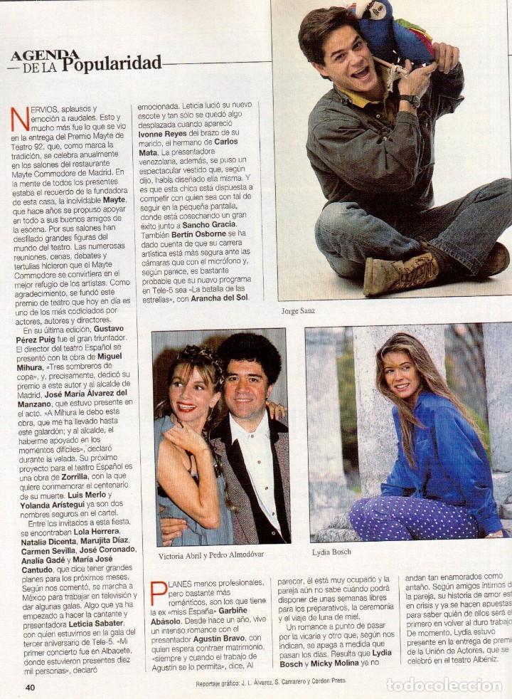 Coleccionismo de Revista Blanco y Negro: 1993. LYDIA BOSCH. DARYL HANNAH. SHONA DWYRE. JAMIE LEE CURTIS. LUZ DE LUNA. CRISTINA SÁNCHEZ. VER - Foto 3 - 144781774