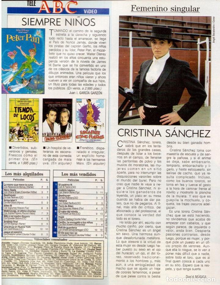 Coleccionismo de Revista Blanco y Negro: 1993. LYDIA BOSCH. DARYL HANNAH. SHONA DWYRE. JAMIE LEE CURTIS. LUZ DE LUNA. CRISTINA SÁNCHEZ. VER - Foto 10 - 144781774