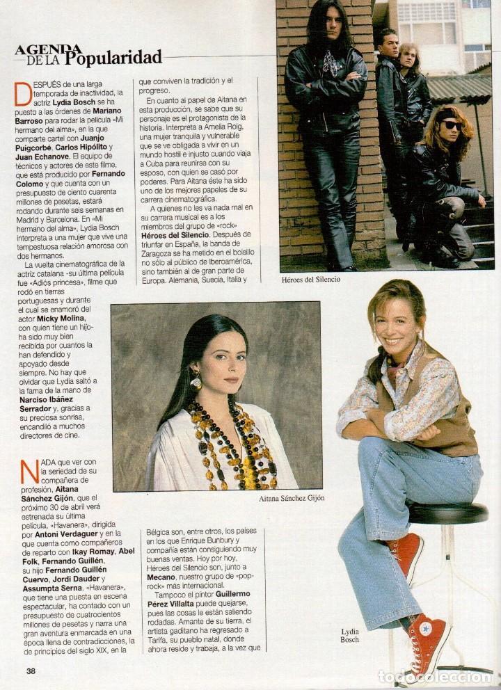 Coleccionismo de Revista Blanco y Negro: 1993. PEDRO DELGADO. LYDIA BOSCH. HEROES DEL SILENCIO. PALOMA MARÍN. JULIO MEDEM. JOAQUÍN CORTÉS. - Foto 3 - 144791526