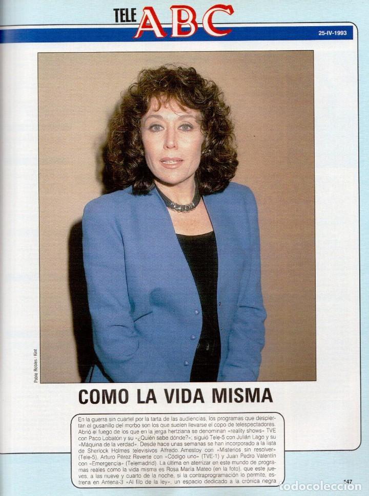Coleccionismo de Revista Blanco y Negro: 1993. PEDRO DELGADO. LYDIA BOSCH. HEROES DEL SILENCIO. PALOMA MARÍN. JULIO MEDEM. JOAQUÍN CORTÉS. - Foto 14 - 144791526