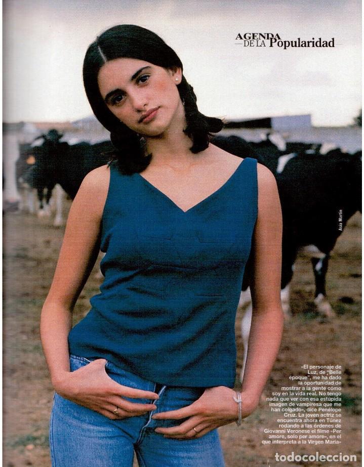 Coleccionismo de Revista Blanco y Negro: 1993. PENÉLOPE CRUZ. EVA SANTA MARÍA. LEONARD COHEN. JULEN GUERRERO. BLANCA SUELVES. VER SUMARIO. - Foto 3 - 144799190