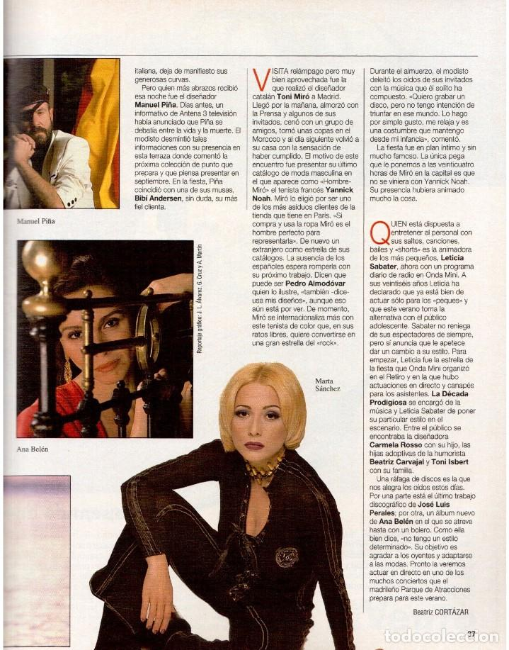 Coleccionismo de Revista Blanco y Negro: 1993. MARTA SÁNCHEZ. LA BELLEZA SOLIDARIA. CARMEN ARBEX. GRAN WYOMING. HEROES DEL SILENCIO. - Foto 3 - 144804054