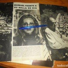 Collezionismo di Rivista Blanco y Negro: RECORTE PRENSA : BUÑUEL FRENTE A CATHERINE DENEUVE . BLANCO NEGRO, SEPTBRE 1967. Lote 145424766