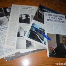 Coleccionismo de Revista Blanco y Negro: RECORTE PRENSA : EL TREN VERTEBRADO A PUNTO PARA EL SERVICIO. BLANCO NEGRO, MARZO 1971. Lote 152124026