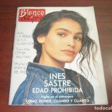 Coleccionismo de Revista Blanco y Negro: REVISTA BLANCO NEGRO AÑO 1989 Nº 3637- ENTREVISTA INES SASTRE- RADIO FUTURA-DRAZEN PETROVIC. Lote 152155098