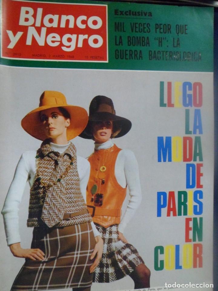 REVISTA BLANCO Y NEGRO. Nº 2913 - 1968 MODA DE PARÍS EN COLOR. GUERRA BACTERIOLÓGICA (Coleccionismo - Revistas y Periódicos Modernos (a partir de 1.940) - Blanco y Negro)