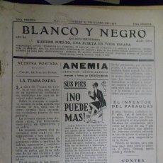 Coleccionismo de Revista Blanco y Negro: REVISTA BLANCO Y NEGRO N. 1938 -31 DE MARZO DE 1929. Lote 159615526