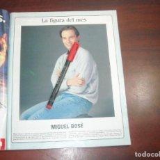Coleccionismo de Revista Blanco y Negro: MIGUEL BOSE - FIGURA DEL MES. -RECORTE REVISTA BLANCO NEGRO - AÑO 1989 - VER DETALLES. Lote 160016474