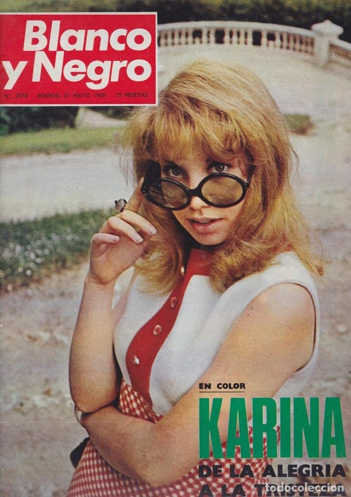 KARINA: ENTREVISTA Y REPORTAJE GRÁFICO DE 1969 (Coleccionismo - Revistas y Periódicos Modernos (a partir de 1.940) - Blanco y Negro)