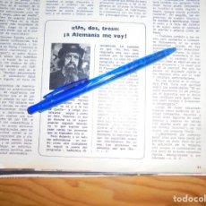 Collectionnisme de Magazine Blanco y Negro: RECORTE : EL UN, DOS, TRES... SERA EMITIDO EN ALEMANIA . BLANCO NEGRO, OCTBRE 1972. Lote 160516874
