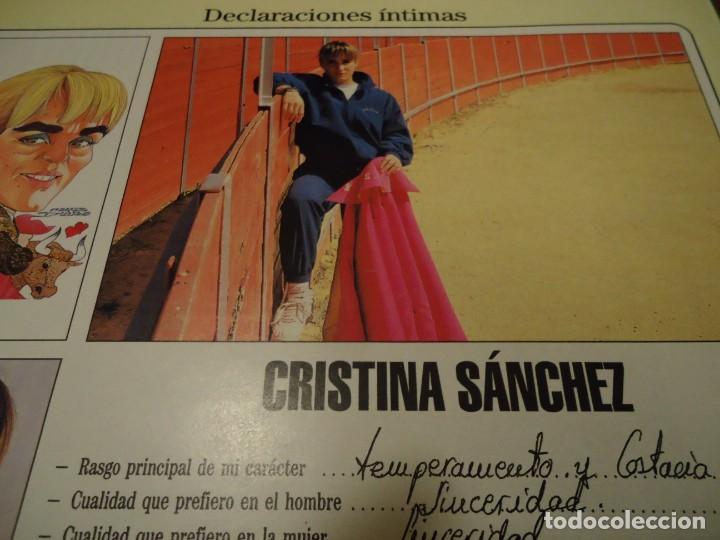 RECORTE REPORTAJE REVISTA BLANCO Y NEGRO AÑO 1994 CRISTINA SANCHEZ TORERA (Coleccionismo - Revistas y Periódicos Modernos (a partir de 1.940) - Blanco y Negro)