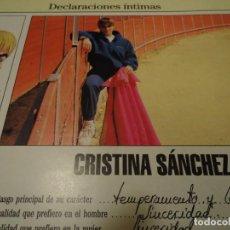 Coleccionismo de Revista Blanco y Negro: RECORTE REPORTAJE REVISTA BLANCO Y NEGRO AÑO 1994 CRISTINA SANCHEZ TORERA . Lote 160919266