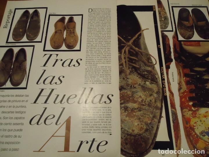 RECORTE REPORTAJE REVISTA BLANCO Y NEGRO AÑO 1994 TRAS LAS HUELLAS DEL ARTE. MIRO, SALVADOR DALÍ, CH (Coleccionismo - Revistas y Periódicos Modernos (a partir de 1.940) - Blanco y Negro)