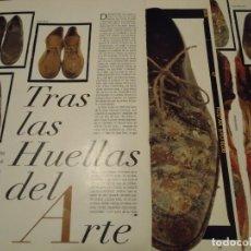 Coleccionismo de Revista Blanco y Negro: RECORTE REPORTAJE REVISTA BLANCO Y NEGRO AÑO 1994 TRAS LAS HUELLAS DEL ARTE. MIRO, SALVADOR DALÍ, CH. Lote 160919378