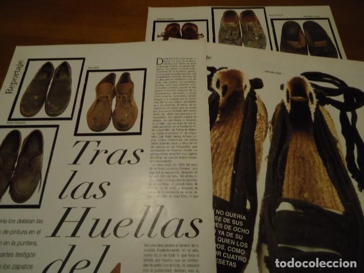 Coleccionismo de Revista Blanco y Negro: Recorte reportaje revista Blanco y negro año 1994 tras las huellas del arte. Miro, Salvador Dalí, Ch - Foto 2 - 160919378