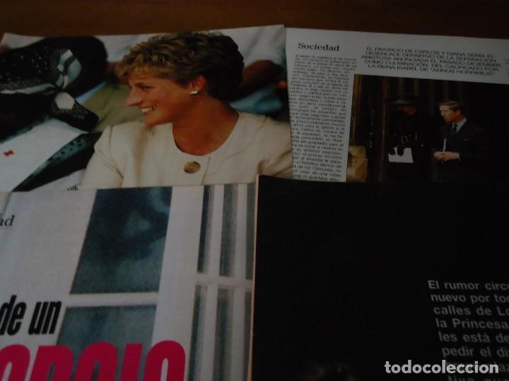 Coleccionismo de Revista Blanco y Negro: Recorte revista Blanco y negro año 1993 articulo sobre Diana de Gales - Foto 2 - 161288818