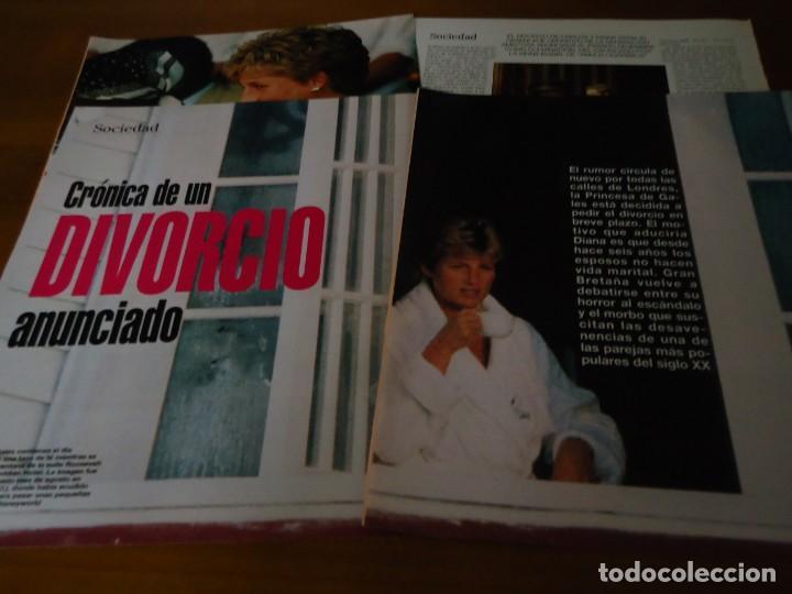 Coleccionismo de Revista Blanco y Negro: Recorte revista Blanco y negro año 1993 articulo sobre Diana de Gales - Foto 3 - 161288818