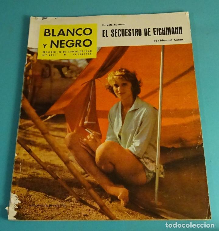 BLANCO Y NEGRO Nº 2511. JUNIO 1960. SECUESTRO DE EICHMANN. CUEVA DE NERJA. AJEDREZ. CHOPIN. TINTÍN (Coleccionismo - Revistas y Periódicos Modernos (a partir de 1.940) - Blanco y Negro)