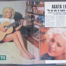 Colecionismo de Revistas Preto e Branco: RECORTE REVISTA BLANCO Y NEGRO Nº 3353 1976 AGATA LYS. 4 PGS. Lote 163067902