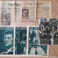 Coleccionismo de Revista Blanco y Negro: SEIS ANTIGUOS PERIÓDICOS ASESINATO J.F.KENNEDY.. Lote 163448962