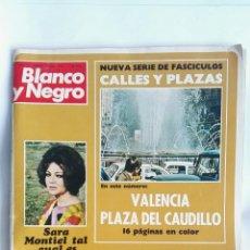 Coleccionismo de Revista Blanco y Negro: BLANCO Y NEGRO JUNIO 1973 SARA MONTIEL PLAZA DEL CAUDILLO VALENCIA ROLLS ROYCE. Lote 163767496
