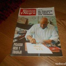 Coleccionismo de Revista Blanco y Negro: BLANCO Y NEGRO. 5 FEBRERO 1966. PICASSO, OCIO Y TRABAJO. Nº 2805 - DIVERSOS AUTORES. Lote 165600878