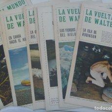 Collectionnisme de Magazine Blanco y Negro: BLANCO Y NEGRO : LOTE 8 COLECCIONABLES DE LA SERIE LA VUELTA AL MUNDO DE WALTER BONATTI. AÑOS 60. Lote 165913778