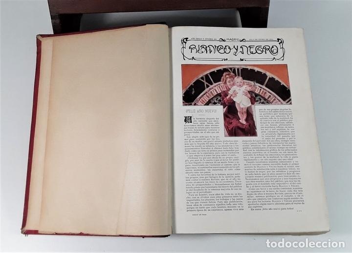 Coleccionismo de Revista Blanco y Negro: REVISTA SEMANAL. BLANCO Y NEGRO. AÑO TRECE. MADRID. 1903. - Foto 4 - 166505750