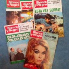 Coleccionismo de Revista Blanco y Negro: ANTIGUAS REVISTAS BLANCO Y NEGRO. LOTE 5 NUMEROS DEL AÑO 1968. Lote 168726076