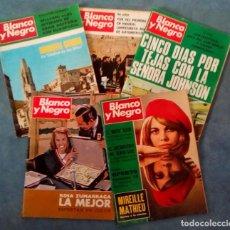 Coleccionismo de Revista Blanco y Negro: ANTIGUAS REVISTAS BLANCO Y NEGRO. LOTE 5 NUMEROS DEL AÑO 1968. Lote 168726524