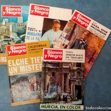 Coleccionismo de Revista Blanco y Negro: ANTIGUAS REVISTAS BLANCO Y NEGRO. LOTE 5 NUMEROS DEL AÑO 1968. Lote 168727748