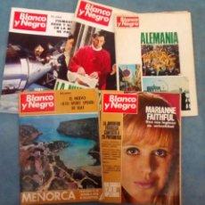 Coleccionismo de Revista Blanco y Negro: ANTIGUAS REVISTAS BLANCO Y NEGRO. LOTE 5 NUMEROS DEL AÑO 1969-1970. Lote 168728368
