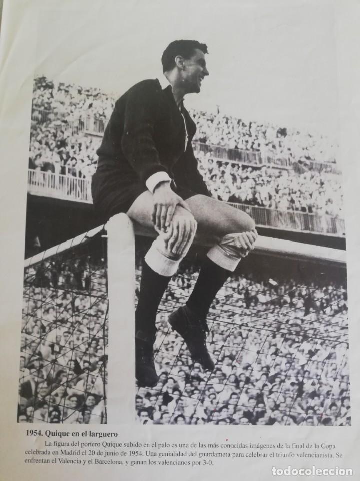 1954 QUIQUE, PORTERO DEL VCF SUBIDO EN EL LARGUERO (Coleccionismo - Revistas y Periódicos Modernos (a partir de 1.940) - Blanco y Negro)