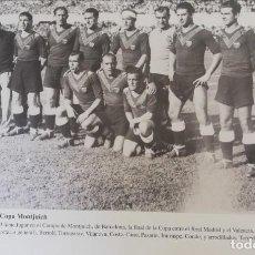 Coleccionismo de Revista Blanco y Negro: FOTOGRAFÍA DEL VCF, EQUIPO FINALISTA COPA DE MONTJUICH. 1934. Lote 171150070