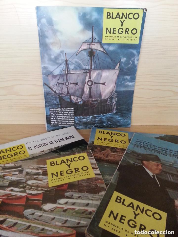 LOTE 5 REVISTAS BLANCO Y NEGRO (1958-1959-1964) - VER FOTOGRAFÍAS PARA PORTADAS (Coleccionismo - Revistas y Periódicos Modernos (a partir de 1.940) - Blanco y Negro)