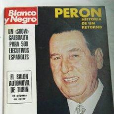 Coleccionismo de Revista Blanco y Negro: BLANCO Y NEGRO N 3161 PERÓN SALÓN AUTOMÓVIL DICIEMBRE 1972. Lote 179119102