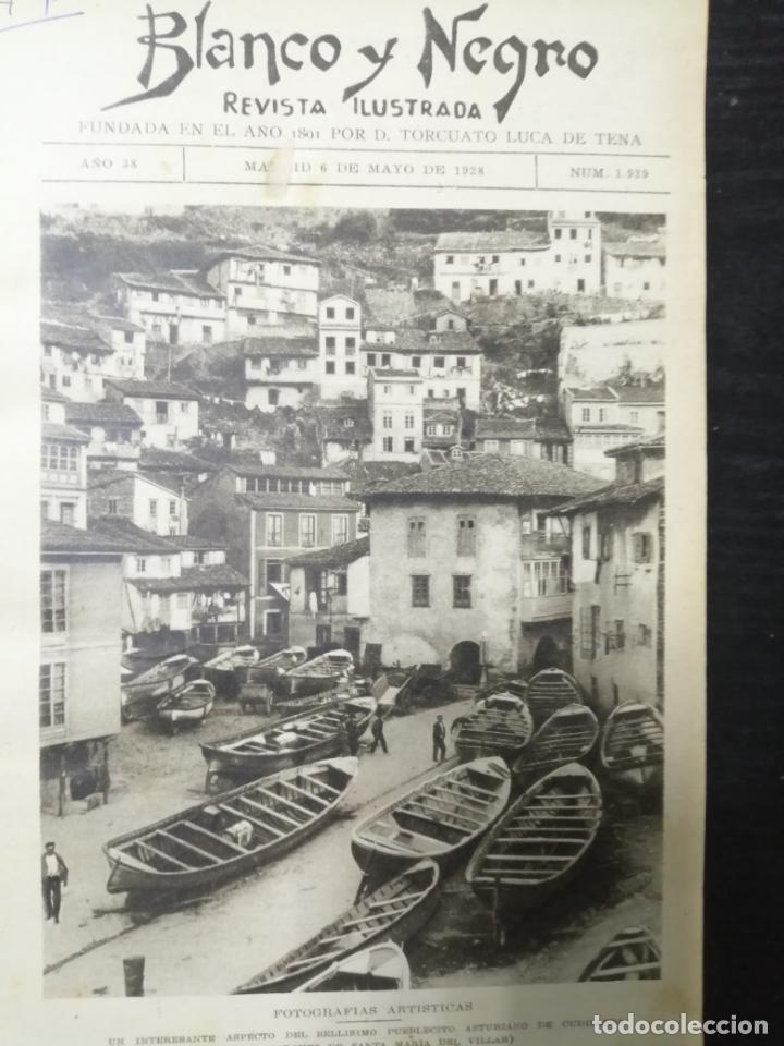 Coleccionismo de Revista Blanco y Negro: RECOPILACION DE REVISTAS BLANCO Y NEGRO EN UN SOLO TOMO, DESDE 6/05 1928 HASTA 24/06 1928. LEER - Foto 4 - 179392386