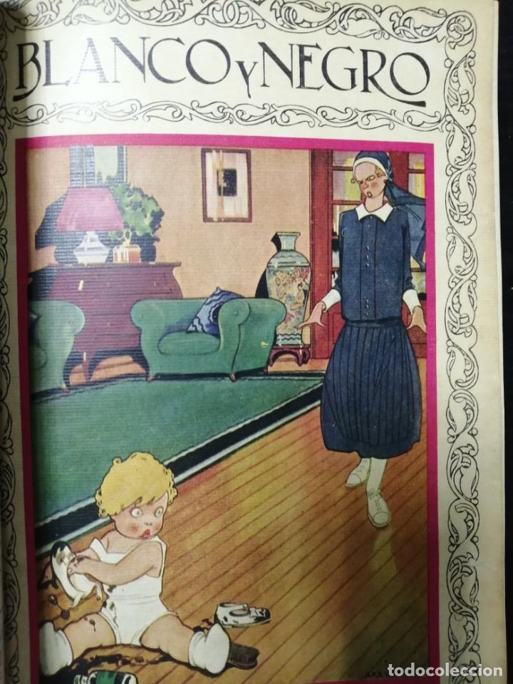 Coleccionismo de Revista Blanco y Negro: RECOPILACION DE REVISTAS BLANCO Y NEGRO EN UN SOLO TOMO, DESDE 6/05 1928 HASTA 24/06 1928. LEER - Foto 6 - 179392386