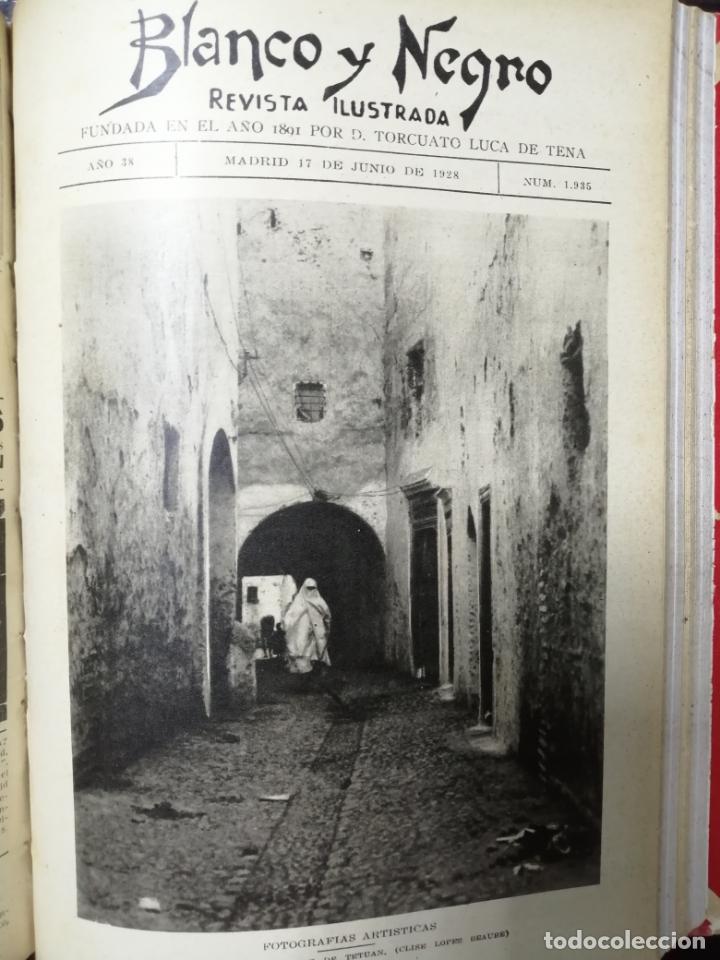 Coleccionismo de Revista Blanco y Negro: RECOPILACION DE REVISTAS BLANCO Y NEGRO EN UN SOLO TOMO, DESDE 6/05 1928 HASTA 24/06 1928. LEER - Foto 13 - 179392386