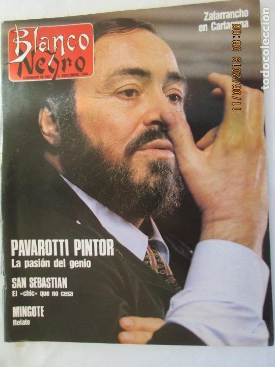 BLANCO Y NEGRO SEMANARIO DE ABC , 02-09-1990 PAVAROTTI PINTOR , LA PASION DEL GENIO (Coleccionismo - Revistas y Periódicos Modernos (a partir de 1.940) - Blanco y Negro)