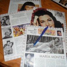 Colecionismo de Revistas Preto e Branco: RECORTE : LOS INMORTALES DEL CINE : MARIA MONTEZ. TERENCI MOIX. BLANC Y NEGR, DCMBRE 1988 (). Lote 182779920